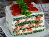 Špenátové řezy s ricottou a lososem recept