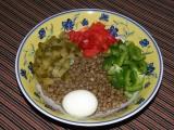 Čočkový salát s vejcem recept