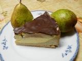 Hruškový dortík s čokoládovou polevou recept