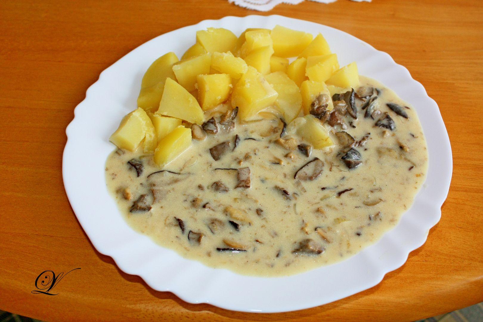 Houby na smetaně s brambory (+ houby na zimu) recept ...