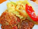 Kuřecí čtvrtky s vepřovou plecí a paprikami na Adžice recept ...