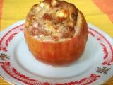 Jablka plněná mletým masem recept