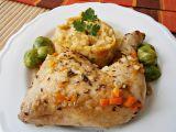 Kuřecí čtvrtky na zelenině, dušené v papiňáku recept