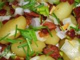 Opečené česnekové gnocchi se slaninou, pórkem a pažitkou recept ...