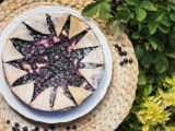 Křehký smetanový koláč s borůvkami recept