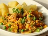 Dušená mrkev s kapustou a kuřecím masem recept