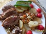 Naplněná krkovička se zeleninou v PH recept