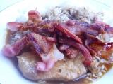 Vepřová kotleta se slaninou a rýží recept