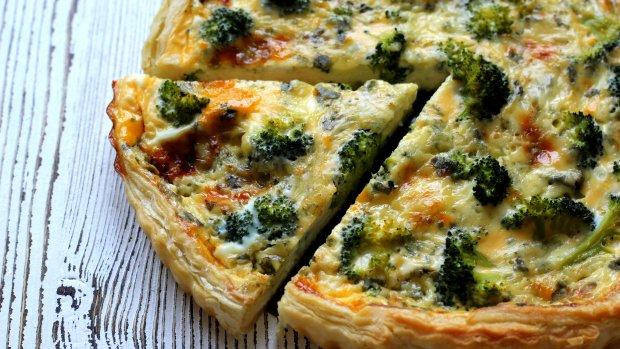 Quiche s modrým sýrem a brokolicí