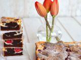 Malinový cheesecake brownies recept