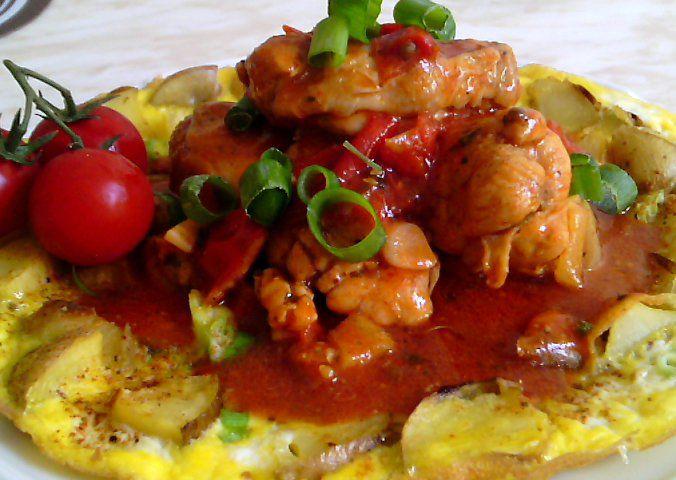 Krkovičkovy kuřecí prsní špalíčky na tymiánu, oregánu s rajčaty ...