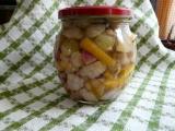 Hříbky se zeleninou ve sladko kyselém nálevu recept