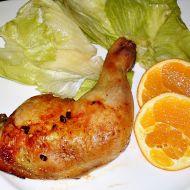 Pečené kuřecí stehno marinované v pomerančové šťávě recept ...