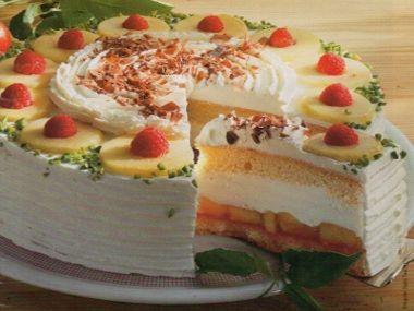 Jablkovo-tvarohový dort