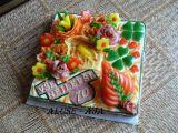 Slaný dort k 70 narozeninám recept