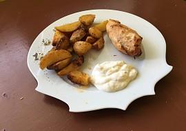 Plněná kuřecí prsa s americkými bramborami recept