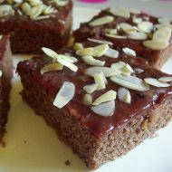 Kakový koláč s polevou recept