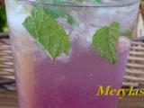 Malinové mojito recept