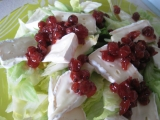 Ledový salát s brusinkami recept