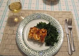 Zapékaný čerstvý a uzený losos s bramborami recept