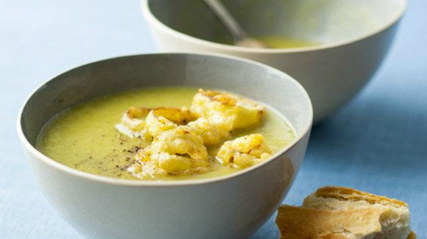 Pórková polévka s hráškem