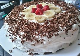 Banánový dort s tvarohem recept