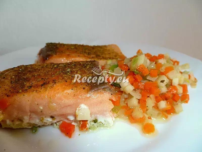 Lín dušený s lečem recept  ryby