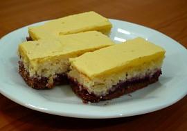 Dvoubarevný kokosový koláč recept