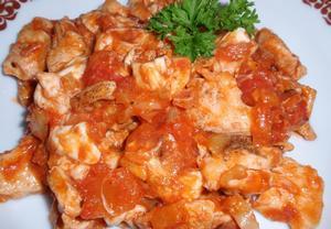 Jednoduchá kuřecí směs s mozzarellou