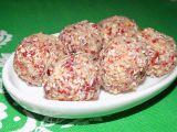 Růžové kuličky z brusinek recept