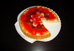Vynikající nepečený ovocný dort