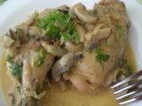Kuře s houbami na pomerančích recept
