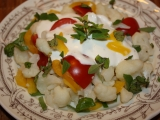 Salát z vařeného květáku recept