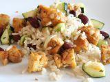 Na pánvi opečený tempeh se zeleninou a rýží recept