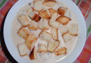 Sýrová polévka s hlívou