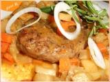 Mletý jelení steak se zeleninou recept