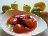 Ovocny kompot s jahodovym zele recept