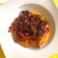 Batátové pyré se zeleninovou směsí a kuřecím masem recept ...
