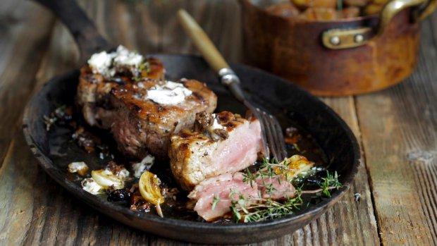Steak s hříbkovým máslem