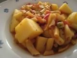 Dušené brambory s fazolkama recept