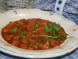 Gulášová polévka s párky recept