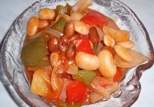 Barevný fazolový salát (lečo)  sterilovaný