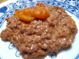 Čokoládová rýže s kompotem recept