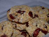 Vločkové cookies s kokosem a brusinkami recept