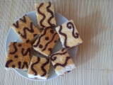 Kokosový moučník s ornamenty recept