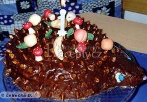 Dětský dort  ježek
