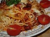 Zapečené špagety se sýrem recept