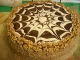 Ořechovokávový dort recept