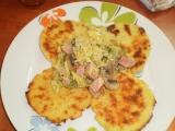Kapustove ragu s bramborovymi plackami recept
