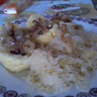 Plněné bramborové knedlíky s uzenou krkovicí recept